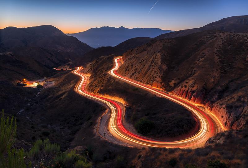 Grimes Canyon sunset