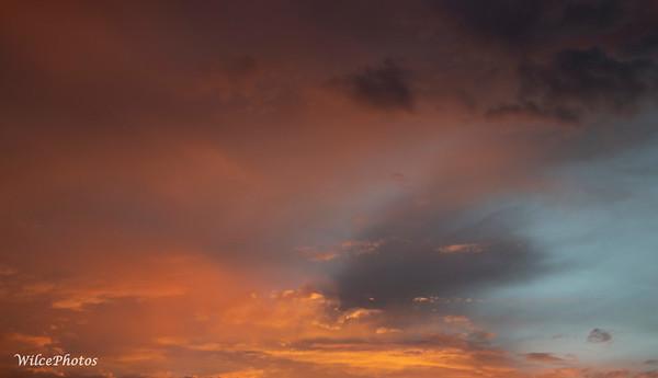 Orange Clouds At Sunset; (Photo #7503)