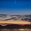 Comet neowise at dawn, san fernando valley