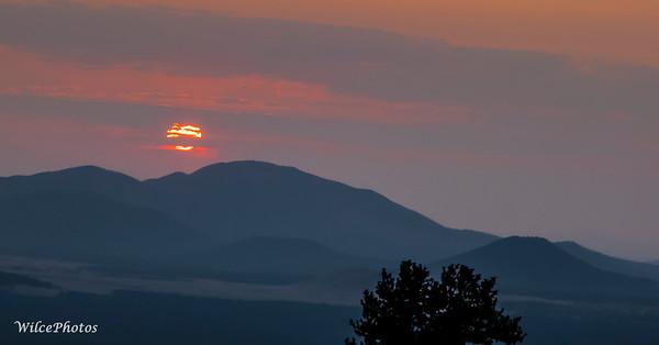 Sunset From Snowbowl (Photo #1085)