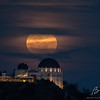Moonrise over Griffith Observatory