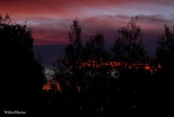 Fiery Dawn Clouds;