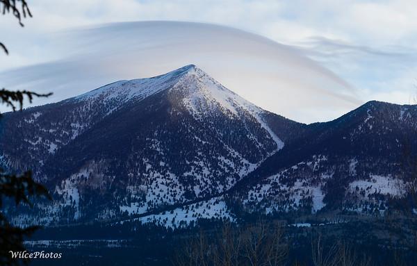 Lenticular Clouds Over Peaks; (Photo #P3250837)