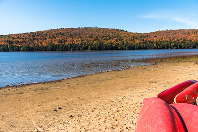 Fall scene on the shores of Rock Lake