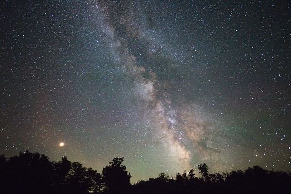 Milky Way and Venus - Rangeley, Maine