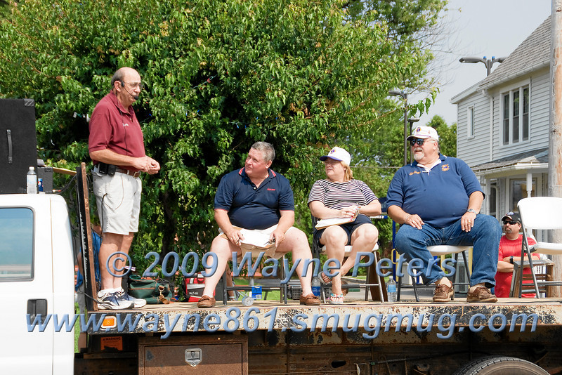 The judges wait for the start of the parade at the Newfane August Festival.