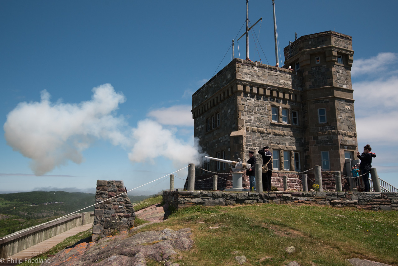 Signal Hill-Canon Fired at Noon Daily