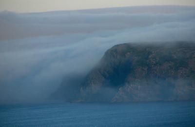 Fog rolls in near St. John's Newfoundland
