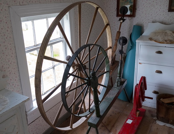 Spinning wheel, Fisherman's Museum, Salvage Newfoundland.