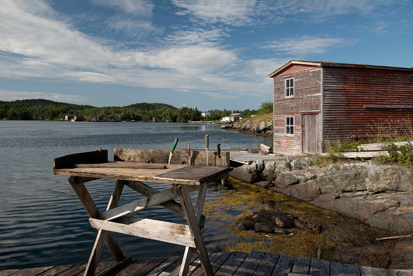 Fishing Stage and Cleaning Table, St. Chad, Newfoundland.