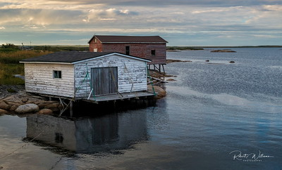 Fishing sheds in Newtown