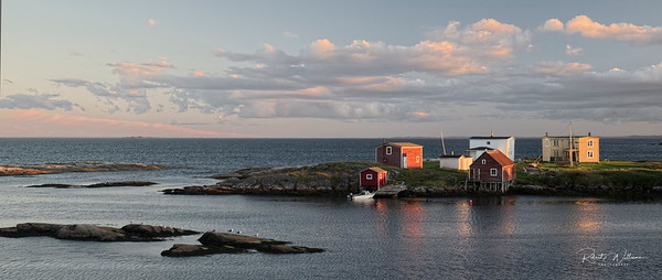 Houses and fishing sheds on Greenspond Island