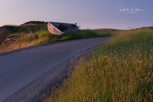 Dory by the Road, Back Harbour, Newfoundland