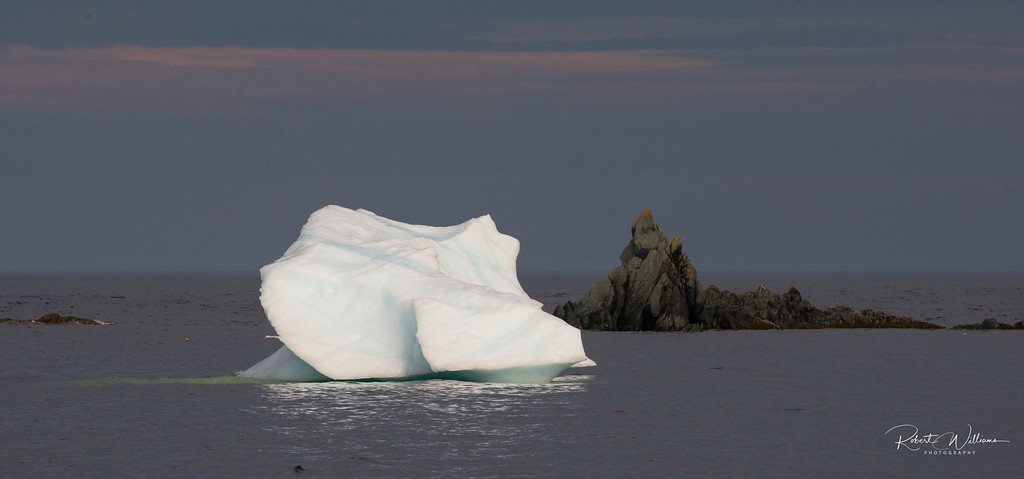 Iceberg in LIttle Harbour, Newfoundland