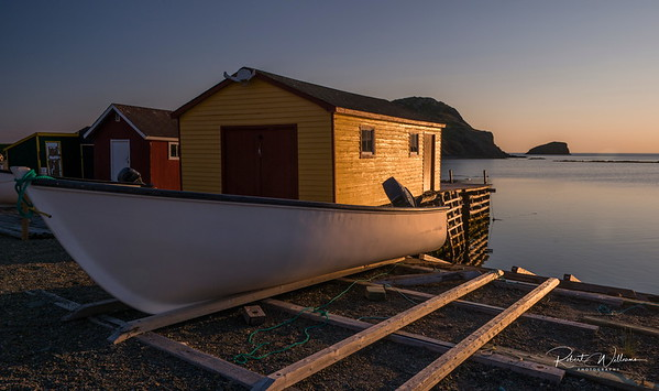 Fishing Boat at Back Harbour, North Twillingate Island, Newfoundland