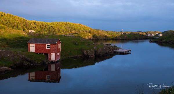 Storage Hut in Herring Neck, Newfoundland