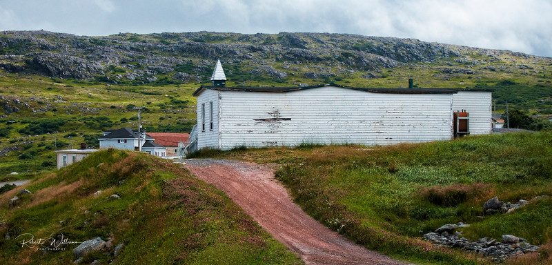 Former church and school in Grates Cove