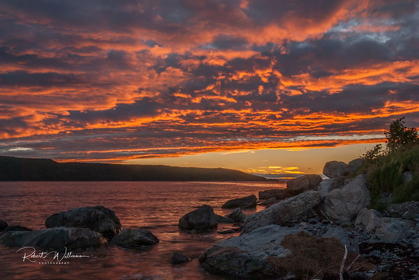 Sunset in Heart's Content, Newfoundland