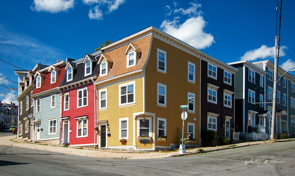 Colourful Houses in St. John's Newfoundland