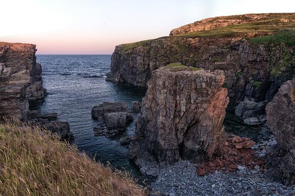 Sea Cliffs in Maberley, Newfoundland