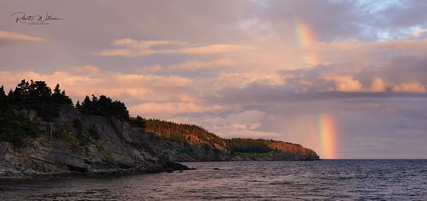 Rainbow on Robinhood Bay