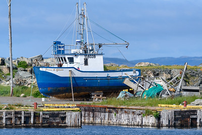 Fishing boat in Bonavista