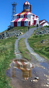 Cape Bonavista Lighthouse reflection