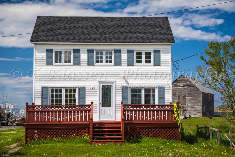 Typical Newfoundland homes at Fogo, Fogo Island, Newfoundland and Labrador, Canada.