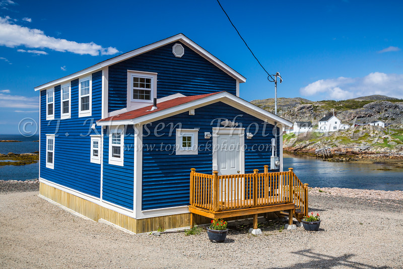 Typical Newfoundland homes at Fogo, Fogo Island, Newfoundland and Labrador, Canada.