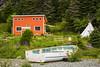 Colorful salt box houses at Bauline East, Newfoundland and Labrador, Canada.