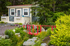 A private garden at Bauline East, Newfoundland and Labrador, Canada.