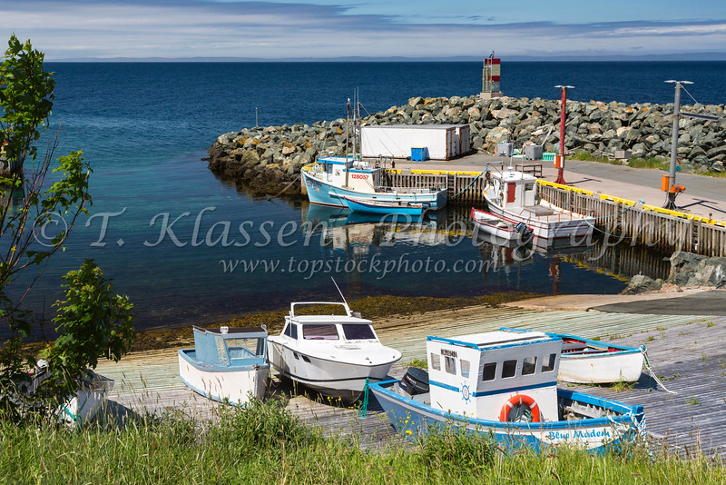 Fishing boats at the picturesque fishing village of  Bauline, Newfoundland and Labrador, Canada.