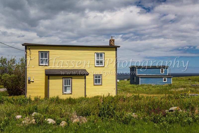 A salt box home near Bay Roberts, Newfoundland and Labrador, Canada.