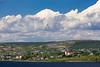 The village and church at  Bay Roberts, Newfoundland and Labrador, Canada.