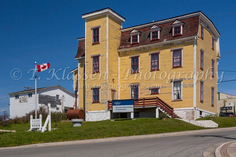 The Provincial Court building in Bonavista, Newfoundland and Labrador, Canada.