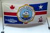 The Town of Bonavista flag emblem at Bonavista, Newfoundland and Labrador, Canada.