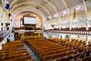 The historic Memorial United Church interior in Bonavista, Newfoundland and Labrador, Canada.