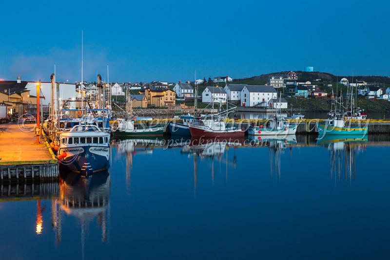 Fishing boats in the harbour at Bonavista, Newfoundland and Labrador, Canada.