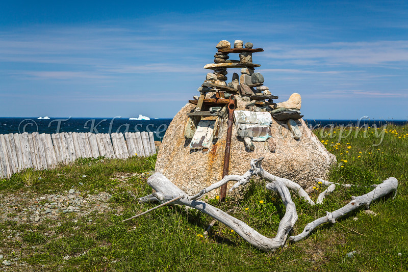 An inukshuk shrine at Bonavista, Newfoundland and Labrador, Canada.