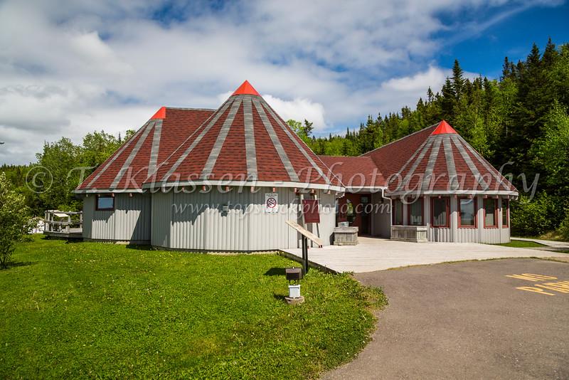 The Beothuk Interpretation Center near Boyd's Cove, Newfoundland and Labrador, Canada.