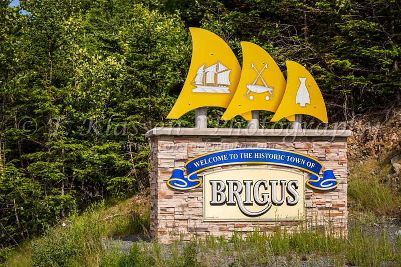A sign at the picturesque fishing village of Brigus, Newfoundland and Labrador, Canada.