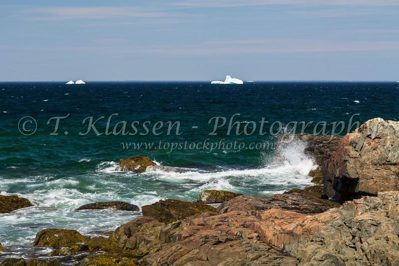The rugged Cape Bonavista coastline at Bonavista, Newfoundland and Labrador, Canada.