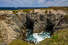 Sea caves at Dungeon Provincial Park, Cape Bonavista, Newfoundland and Labrador, Canada.
