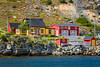 Colorful homes at Cupids, Newfoundland and Labrador, Canada.
