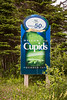 A welcome sign at Cupids, Newfoundland and Labrador, Canada.