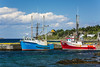 Fishing boats in the harbour at Cupids, Newfoundland and Labrador, Canada.