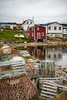 Fishing stages and boats in the harbour at Joe Batt's Arm-Barr'd Islands-Shoal Bay, Newfoundland and Labrador, Canada.