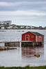 Fishing stages in the harbour at Joe Batt's Arm, Newfoundland and Labrador, Canada.