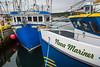 Closeup pf the fishing boat Nova Mariner at the dock at Harbour Grace, Newfoundland and Labrador, Canada.