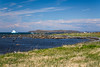 The coastline at L'Anse aux Meadows National Historic Site near St. Anthony, Newfoundland and Labrador, Canada.